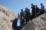 معاون هماهنگی و نظارت معاون اول رئیسجمهور از تپههای کنارصندل جیرفت بازدید کرد /تصاویر