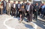 آیین کلنگ زنی مسجد جواد الائمه با حضور مسئولین عنبرآباد/تصاویر