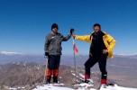 صعود کوهنوردان فرمانداری جیرفت به قله نشانه ساردوئیه/تصاویر