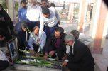 تجدید میثاق خبرنگار های شهرستان عنبراباد در روز خبرنگار با مقام شامق شهدا / تصاویر