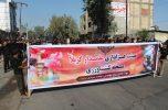 عزاداری مردم محله کشاورزی جیرفت در روز تاسوعای حسینی به روایت تصاویر