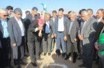 فاز اول عملیات اجرایی ۱۰۰۰ هکتار گلخانه در جیرفت آغاز شد/تصاویر