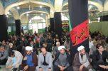 عزاداری و قرائت زیارت نامه پیامبر اعظم (ص) در مسجد الرسول شهرجیرفت / تصاویر