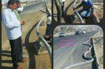 اجرای خط انتقال آب به گلزار شهدای قلعه گنج