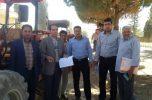 بازدید اعضاء کمیسیون مبارزه با قاچاق کالا و ارز شهرستان جیرفت از دستگاههای ادوات کشاورزی اسفندقه