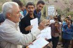 اعتراض عشایر و کشاورزان رابر و هفت شهرستان جنوب استان کرمان نسبت به تخریب منابع طبیعی و انتقال آب کندر تیل / تصاویر