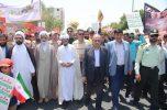 مراسم راهپیمایی روز قدس در شهرستان جیرفت به روایت تصاویر