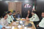به مناسبت هفته دولت فرمانده و پرسنل نیروی انتظامی شهرستان کهنوج با فرماندار دیدارکردند