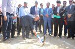 دو کیلومتر خط انتقال آب کشاورزی در روستای کنارصندل کلنگ زنی شد