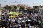 راهپیمایی پرشور ۱۳آبان در جیرفت/ تصاویر