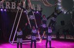 سیرک بین المللی آذربایجان در جیرفت به روایت تصاویر