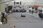 مسابقه اتومبیلرانی اسلالوم در جیرفت برگزار شد / تصاویر
