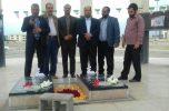 تجدید میثاق دانشگاهیان دانشگاه آزاد اسلامی واحد جیرفت با شهدای گمنام