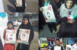 ترویج پویش ۱۳ هزار شهید نیروی انتظامی در راهپیمایی ۲۲ بهمن جیرفت