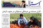 ورشکستگی کشاورزان و اکران مستند بی عرضگی مسوولان در جنوب کرمان