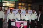 نیروی انتظامی شهرستان جیرفت برای پاسخگویی، به میان مردم آمد / تصاویر