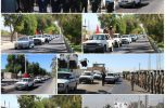 همزمان با آغاز هفته دفاع مقدس روژه خودرویی و موتوری نیروهای مسلح در عنبرآباد برگزار شد