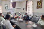 در آستانه هفته نیروی انتظامی، نشست خبری فرمانده انتظامی شهرستان عنبرآباد برگزار شد